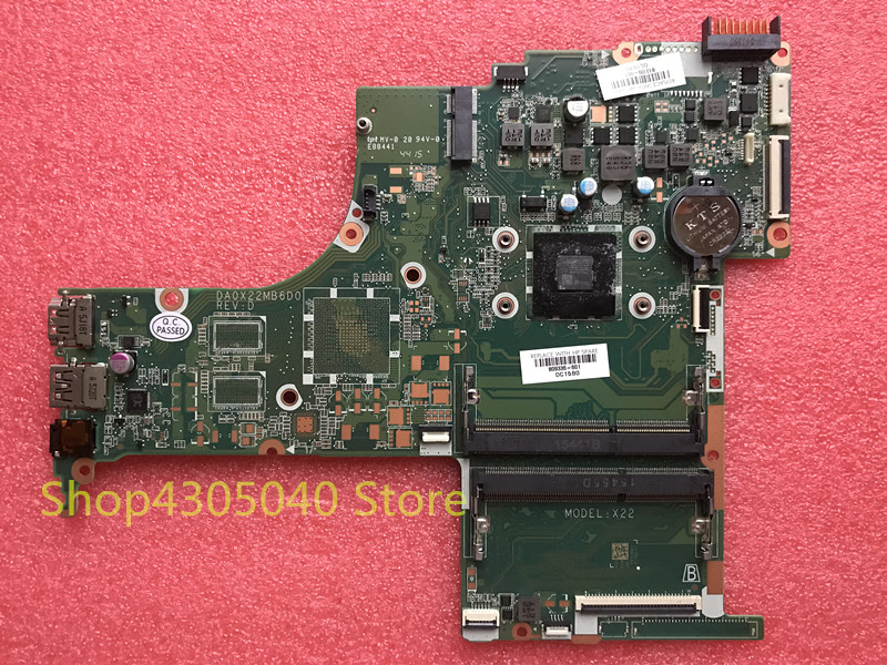 xiwang 809336-001 809336-501 809336-601 DA0X22MB6D0 For HP 15-AB Laptop Motherboard with A6-6310 CPU,All functions GOOD