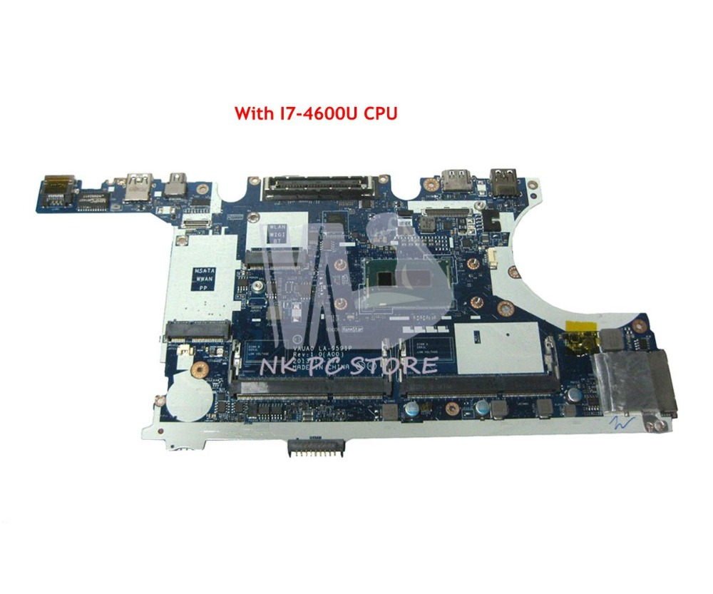 NOKOTION For Dell Latitude E7440 Laptop Motherboard with <font><b>I7</b></font>-<font><b>4600U</b></font> CPU VAUA0 LA-9591P CN-0WK2DM 0WK2DM MAIN BOARD image