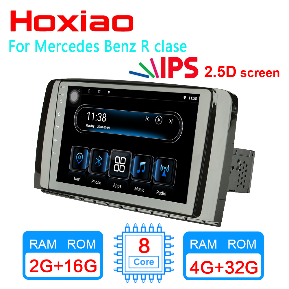 4G 2GRAM Android 8 1 Car player for para Mercedes Benz R clase W251 R300 R350