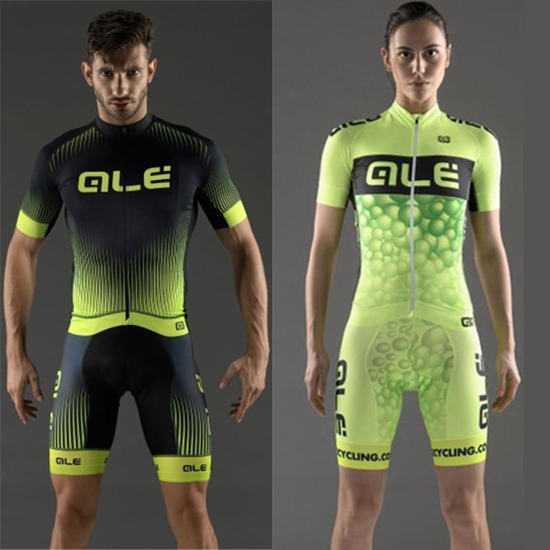 Prix pour Tous les Styles! 2016 ALE Hommes/Femmes Cyclisme Jersey Vêtements Printemps/Été À Manches Courtes Respirant Hommes et Femmes 9d gel pad