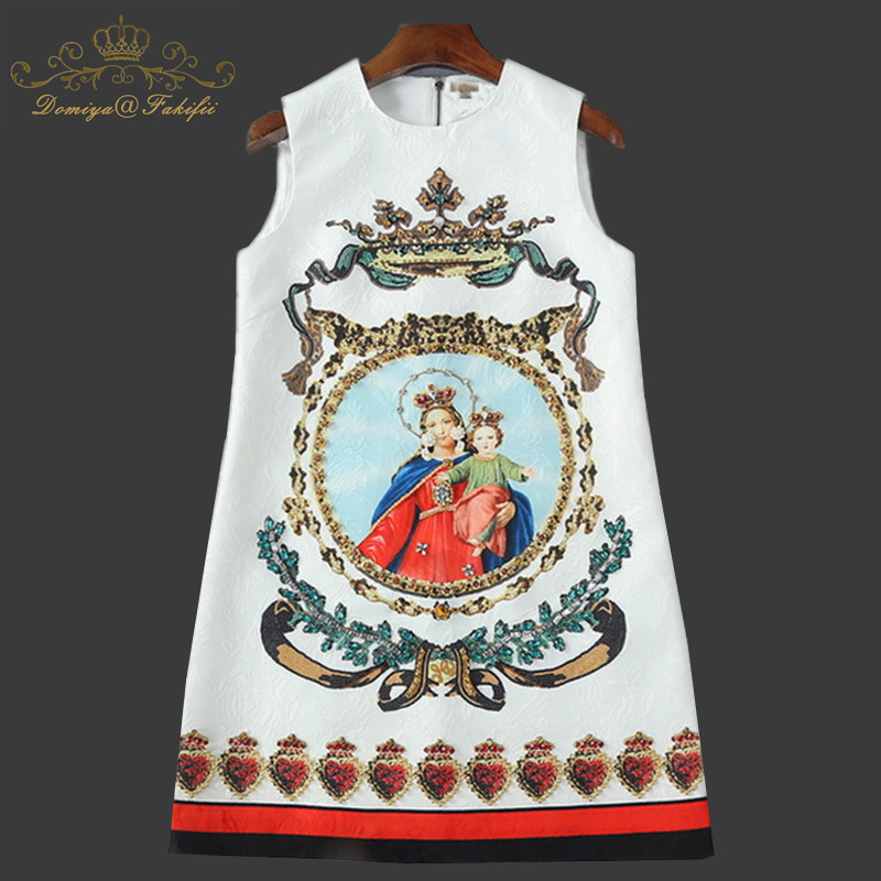 2018 Fashion Designer Runway Summer Girl Party Dress Women Noble Diamonds Beading Vintage Straight Short Dress Family Clothes