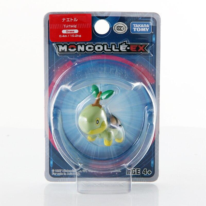Takara Tomy Pokemon Moncolle-EX Sun Moon 4cm Mini Toy Collection Figure Turtwig New 975847