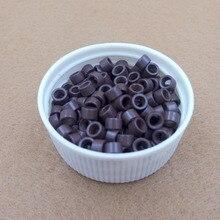 10000 шт. 4.0 мм Выдвижения Волос Микро-Кольца Бусы Ссылки с Винтами 5 # коричневый