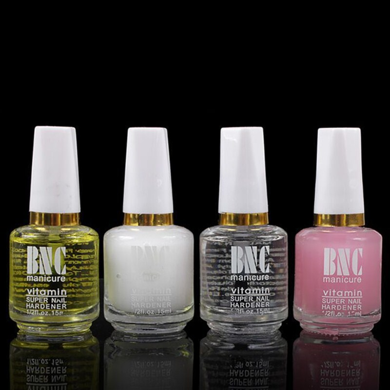 1Bottle 4 Colours BNC Nail Polish Calcium Base Nail Oil