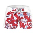 New Men High Aaist Floral Beach Short Pants Swimwear F46