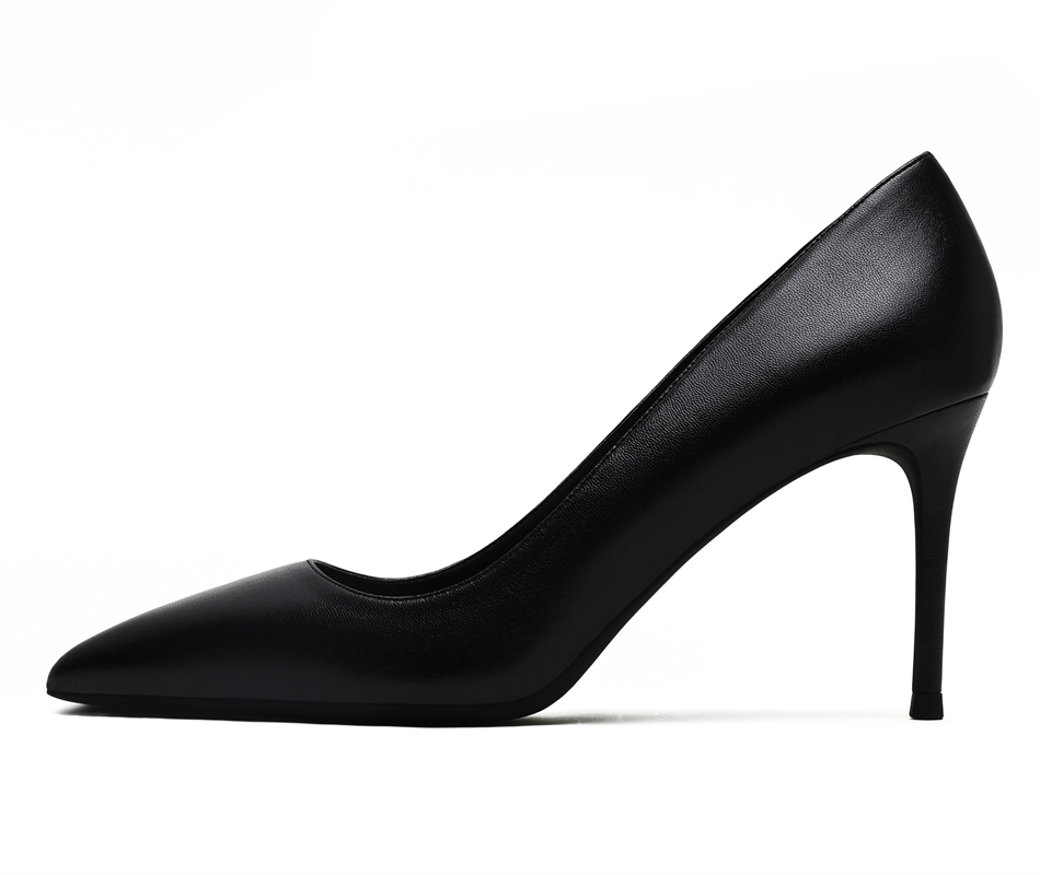 KATELVADI パーティー靴ハイヒールのファッション女性パンプス黒スプリットレザー 8 センチメートルハイヒールのセクシーな結婚式の靴の女性、 k 319  グループ上の 靴 からの レディースパンプス の中 3