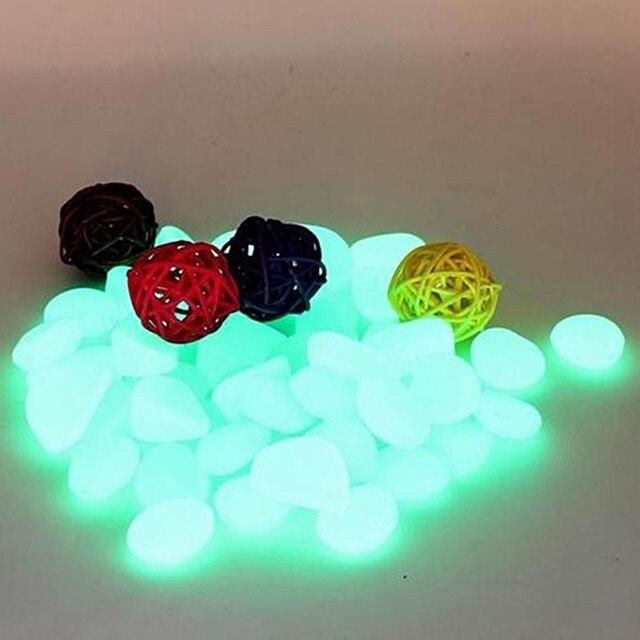 100pcs Garden Ornaments Stone Glow In The Dark