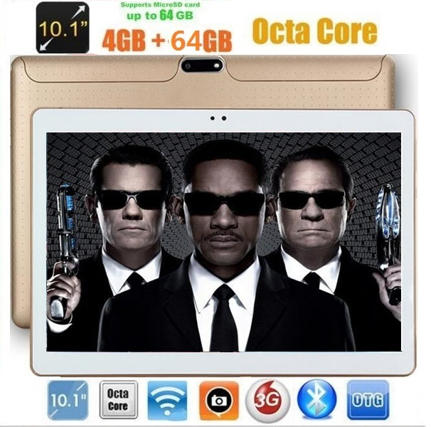 10 inch Tablet PC Octa core 1280*800 4GB RAM 64GB ROM Dual SIM Card cameras IPS GPS 3G WCDMA Android 7.0 3g Tablets