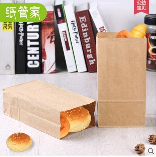 25 Teile Los Kraftpapier Kuchen Brot Papiertüten Box Mit Griff