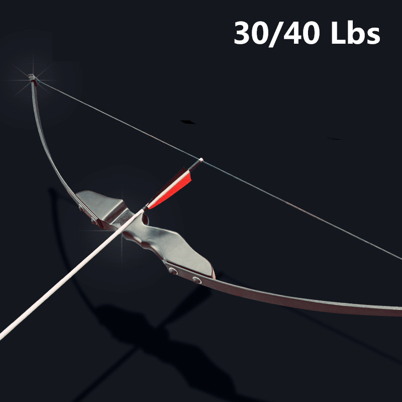 30/40lbs Recurve Bow For Right Hand Wooden Archery Bow Outdoor Shooting Hunting Bow Accessories Sports Blind & Tree Hunting Bow