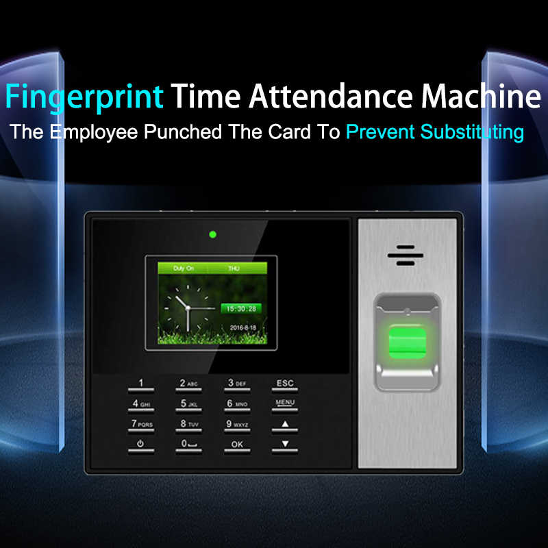 Fingerprint Time Attendance System Biometric Employee Clock