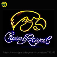 NEON SIGN For Crown Royal Signboard REAL GLASS BEER BAR PUB Display RESTAURANT Light Signs Guarantee