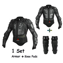 Motorrad Enduro Jacke Ganzkörper Schutzausrüstung Männer Motorradrüstung Jacke + Knieschützer Motocross Schutz Motorschutz