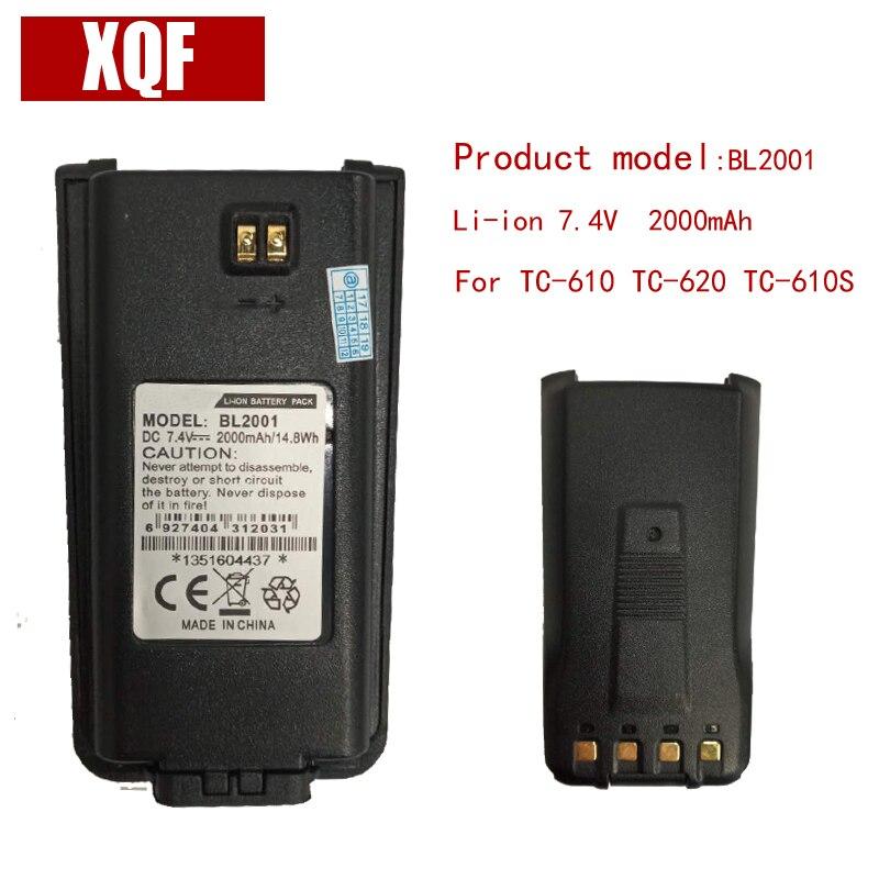 D'origine BL2001 LI-ON 7.4 V 2000 mAH Batterie pour Hytera HYT Radio TC-610, TC-618, TC-620, TC-626, TC-610P TC-610S Talkie Walkie