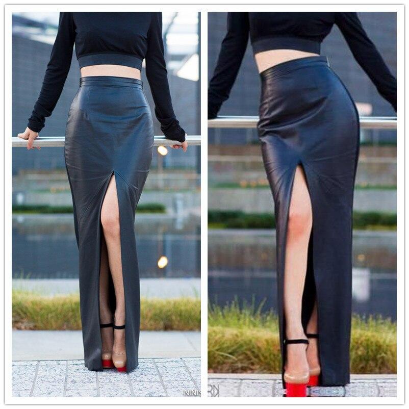 WBCTW 10XL Plus izmērs Sexy Open Slide Pencil svārki 2018 Augsta - Sieviešu apģērbs