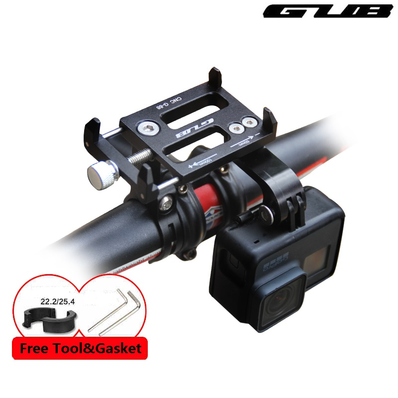 GUB G-88 Bicycle Multi-function Phone Holder Cycling GPS Phone Mount 3.5 to 6.2 Inches Phone Bracket Motorcycle Phone Support foldable portable phone flat bracket