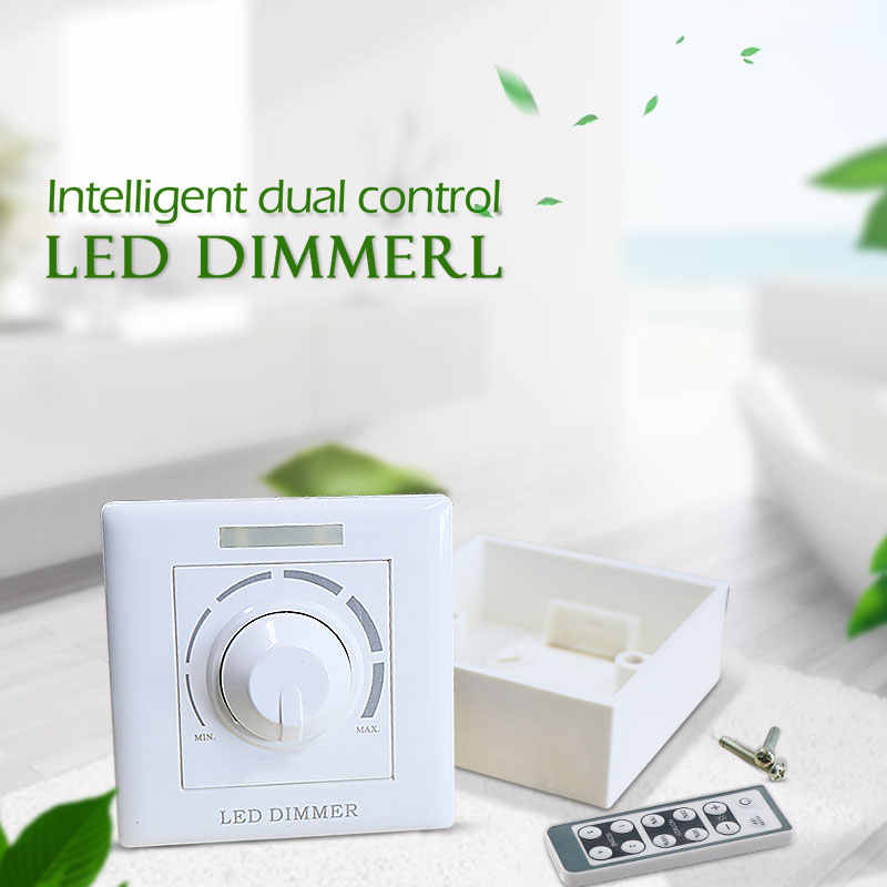 AC LED COB Tumbuh Chip Thyristor Dimmer 200 W Infrared Remote Dimmer Switch Trailing Edge Phase Tanpa Sopir Lampu LED Down Light dimmer