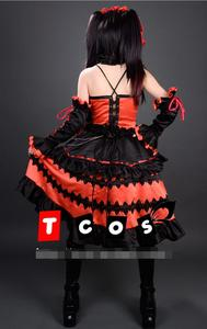 Image 3 - Nuevo Popular porque Sonico Kurumi Anime Cosplay Fecha en directo Cosplay Halloween conjunto completo 4in1 (Vestidos + Headwear + cuello adornos + Arco kn