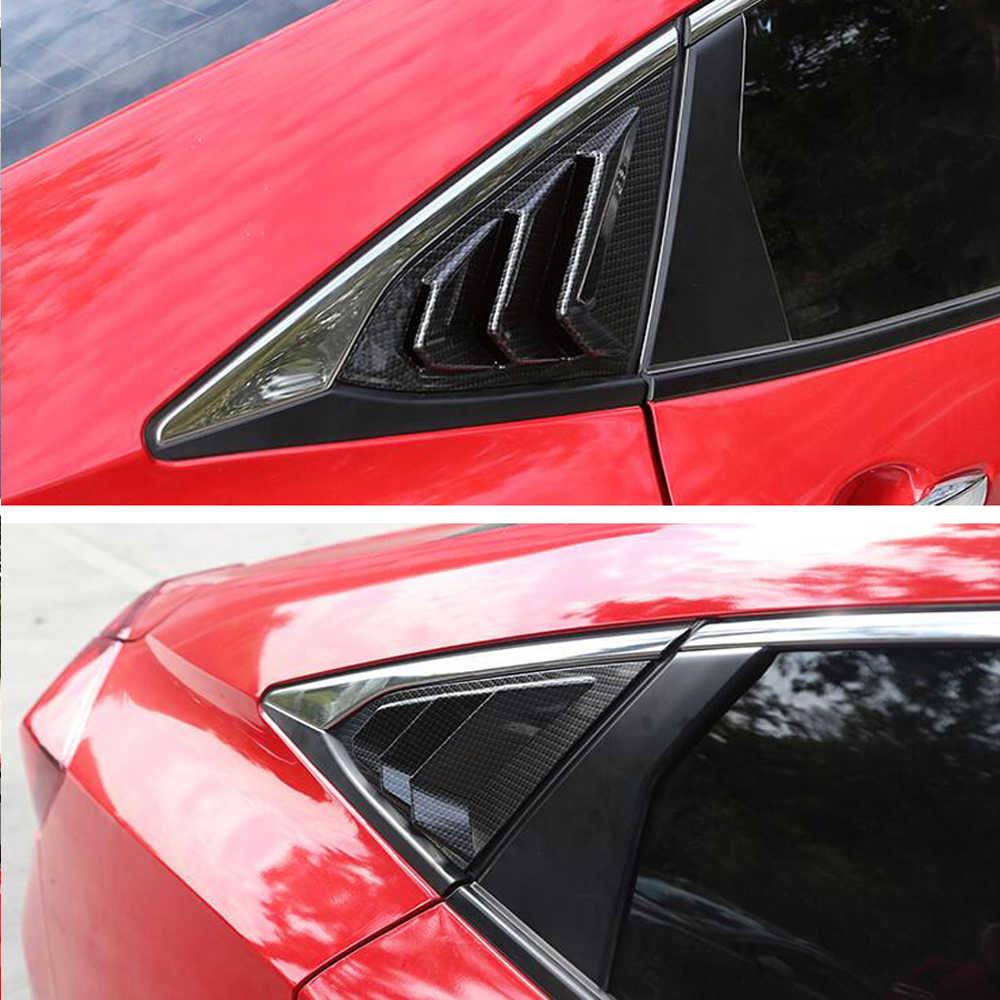 WLR RACING заднего стекла четверти боковые вентиляционные окна жалюзи Scoop Обложка для Honda Civic 10th 2016 2017 автомобилей стиль Запчасти