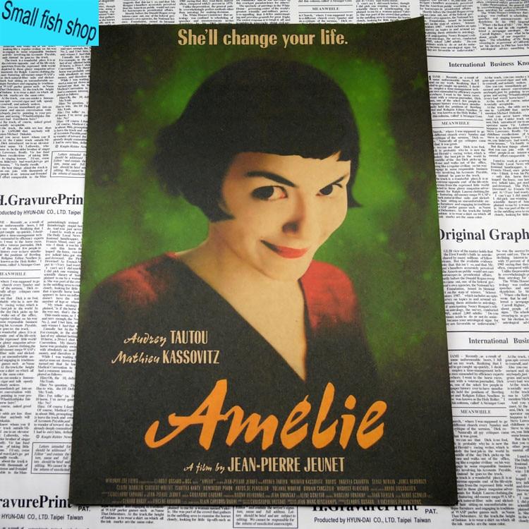 Amelie Audrey Tautou Francuska romantyczna literatura Wyposażenie - Wystrój domu - Zdjęcie 2