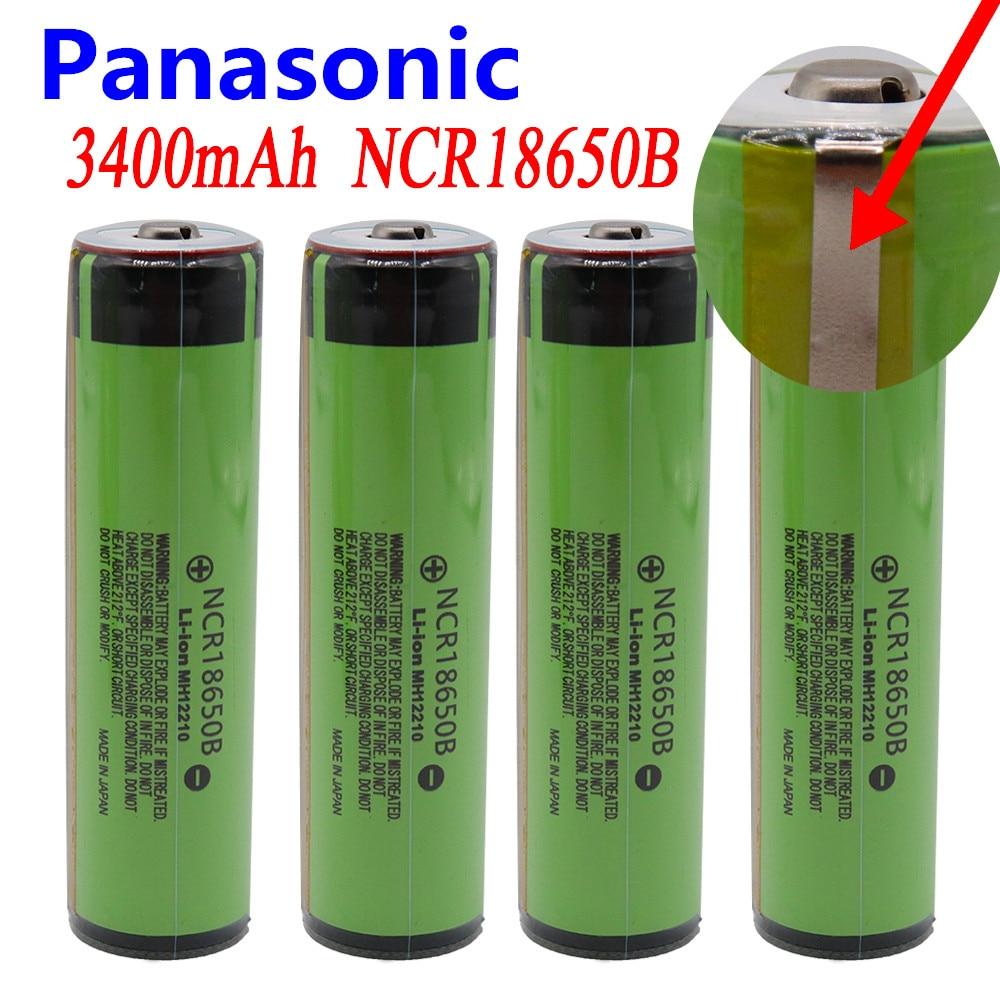 Panasonic 100% New 18650 Battery 3400mah 3.7v Lithium Battery For NCR18650B 3400mah Suitable For Flashlight Battery +PCB