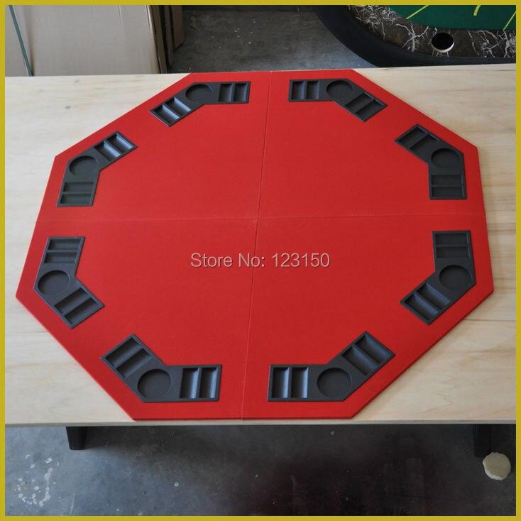 ET-02  Foldable Casino tabletop, Four fold, for Texas Holdem Game, RedET-02  Foldable Casino tabletop, Four fold, for Texas Holdem Game, Red