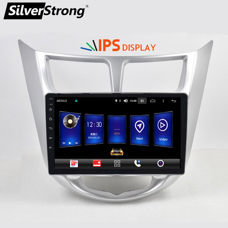 SilverStrong Russian 9inch IPS matrix Solaris Android9 0 4G Car DVD For Hyundai Solaris Verna Accent
