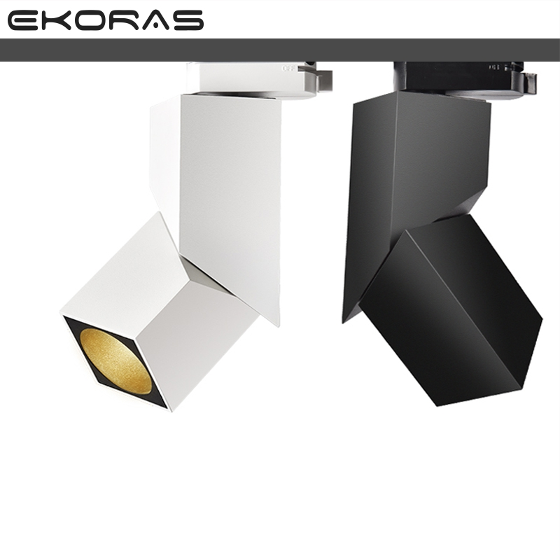 NEW fashion Art cube 7W 12W 15W CREE led track light Adjustable angle Rail lamp backdrop lighting fixture spot lighting