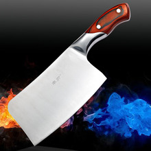 Free shipping Kitchen Knives Cooking Tools Stainless steel +wooden handle chef knives Can  chop bone  kill sheep  pig