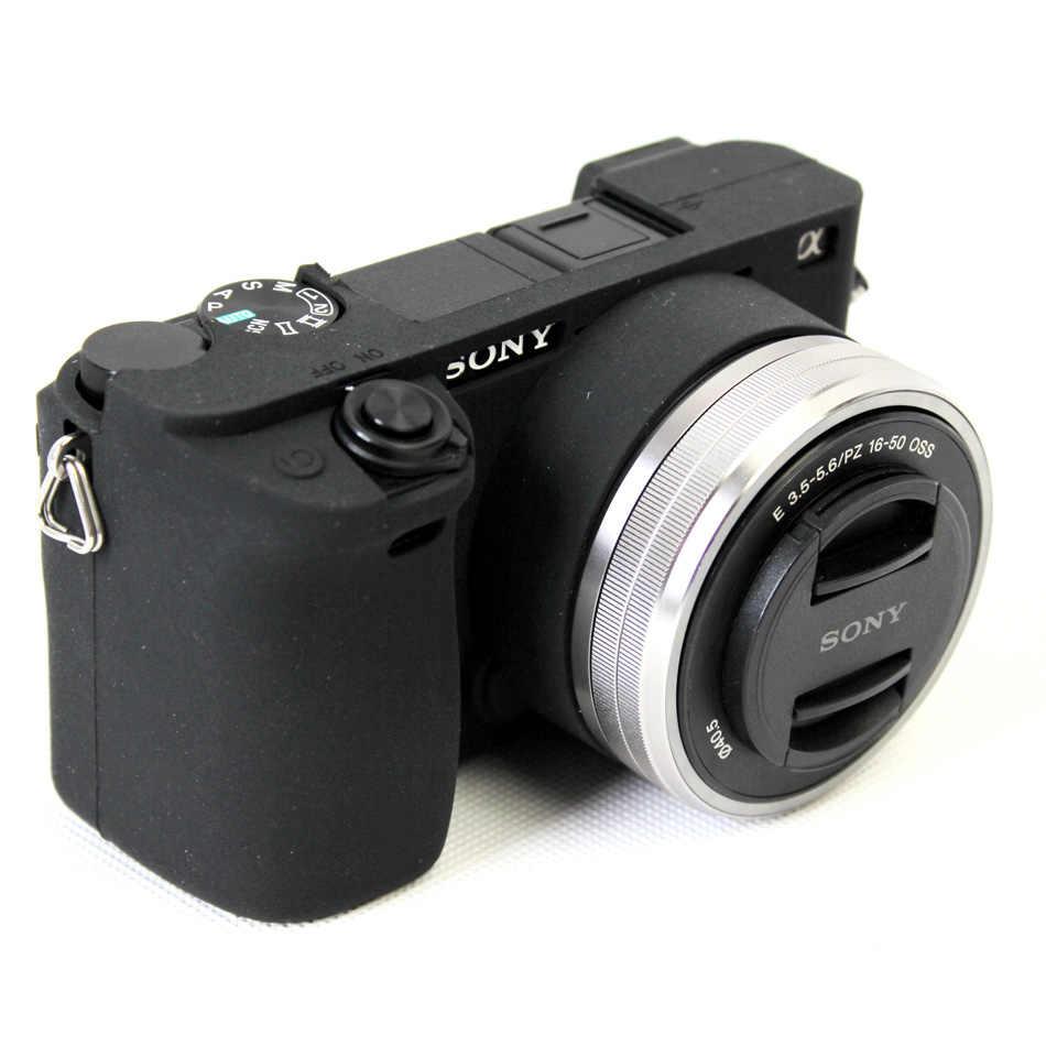 Câmera Corpo de Proteção de Borracha de Silicone macio Pele Para Cobrir Caso SONY Alpha A6300 A6300 ILCE-6300 Saco Da Câmera Lente