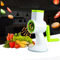 New 4in1 Manual Vegetable Shredder Rotary Mandoline Slicer Potato Carrot Grater Hand Shaking Vegetable Cutter Kitchen Gadgets