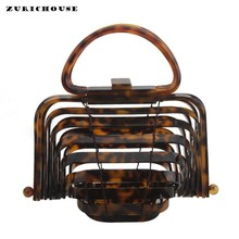 ZURICHOUSE 2019 Acrylic Totes Bag Women Luxury Handmade Bamboo Rattan Bags Beach Party Evening Clutch Purse Handbags Ladies bolsa 2018 new acrylic beach bag pearl white lady handbag vacation totes chic evening clutch party purse bag acrylic clutch bags