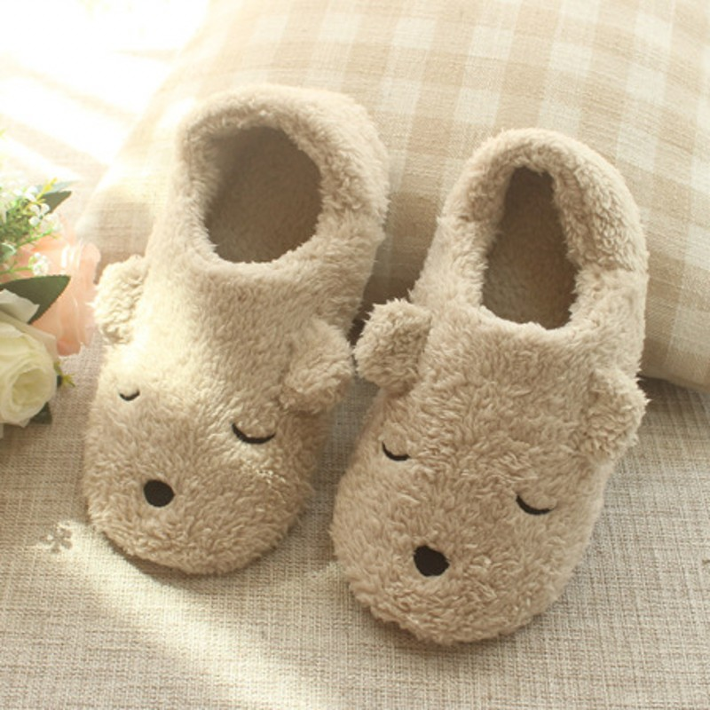 cartoon cute Indoor Home Slippers Warm Soft Plush slippers Comfortable Indoor Fur Slippers Striped Cute Girls Women Shoes Gift new spring cute women slippers breathable comfortable soft house indoor home women shoes pasoataques brand