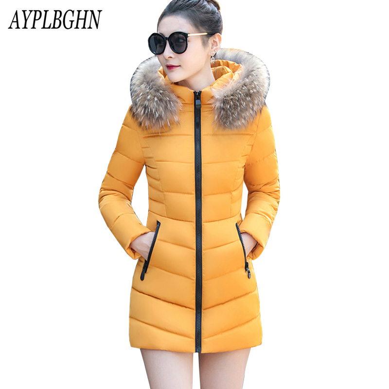 jacket women   parkas   cotton Women Winter Jacket New Arrival Casual Warm Long Sleeve Ladies Basic Coat jaqueta feminina plus size