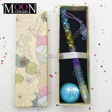 Kits de herramientas de mosaico de punto de cruz de pintura de diamante, nuevo bolígrafo colorido del océano del arco iris con cadena, accesorios de bordado de cera