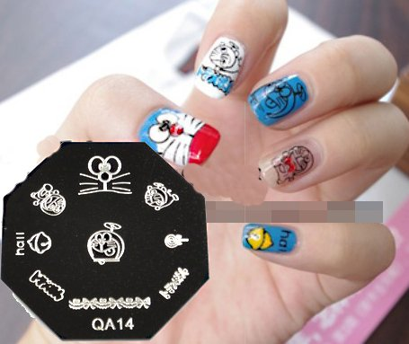 Original Design Template Doraemon Series Nail Stamping Plates