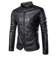 New Motorcycle Jackets Men Vintage Retro PU Leather Jacket Racing Biker Casual Coat Punk Classical Windproof Moto Jacket недорого
