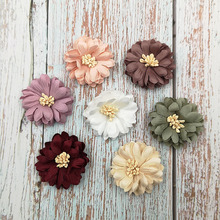 40pcs/lot 4 7Colors Small Simulation Artificial Flower For Infant Children Hair Accessories Headband Kidocheese