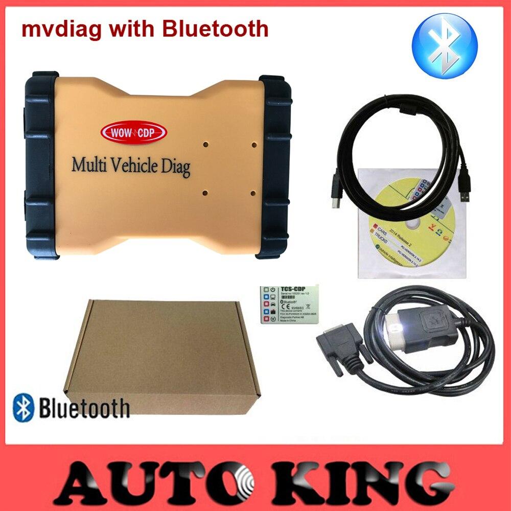Цена за Новый 2015 R1 Программное Обеспечение Mulit Автомобиль Diag МВД Bluetooth wow CDP Pro LED Новый vci Для Автомобилей Грузовик авто диагностический инструмент + Бесплатные корабль!