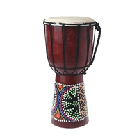 Professional African Djembe Drum Bongo 6 inch Classic Painting Wooden African Djembe Good Sound Musical Instrument
