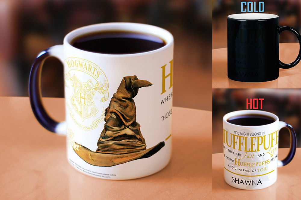 Hogwarts mugs Customized NAME Sorting Hat Hufflepuff mugs Slytherin mug Gryffindor mug Ravenclaw heat reveal coffee