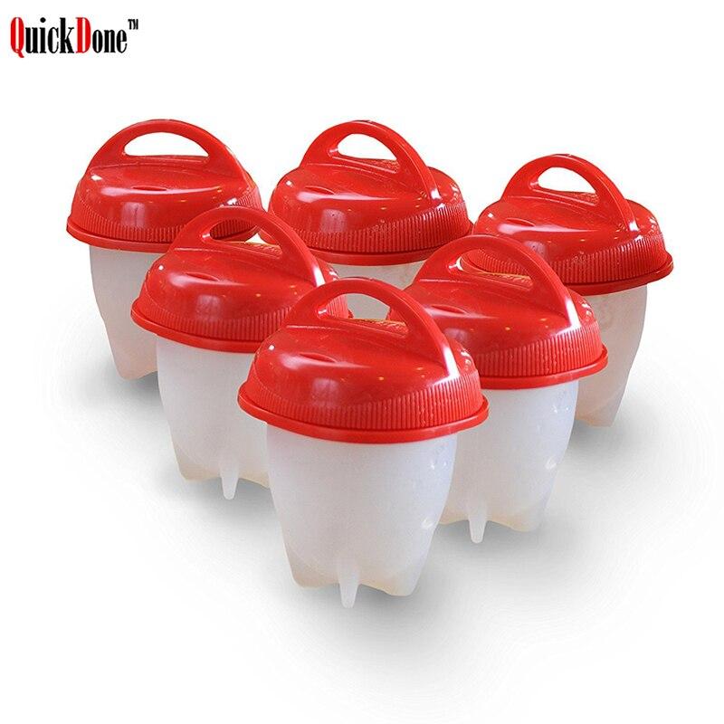 QuickDone Silikon Egglettes Eierkocher Hartes Blutgeschwür-eier Kochen Ohne Schale Antihaft BPA FREI Langlebig Egg Tools AKC6175
