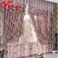 Luxury Modern Leaves Designer Curtain Tulle Window Sheer Curtain For Living Room Bedroom Kitchen Window Screening Panel P347Z30
