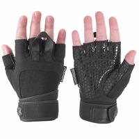Seibertron Padded Anti Slip Silica Gel Grip Bodybuilding Gloves for Gym Workout, Weight Lifting Training Fitness Cross Training