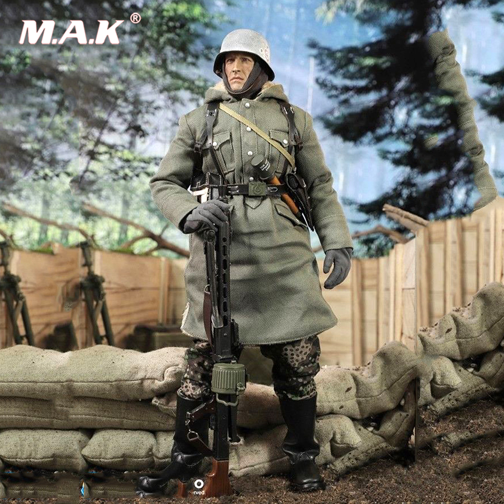 For Collection 1/6 WWII SS-PANZER-DIYISION DAS REICH MG42 Guner Figure Display doll Model Toy full set with the figure body