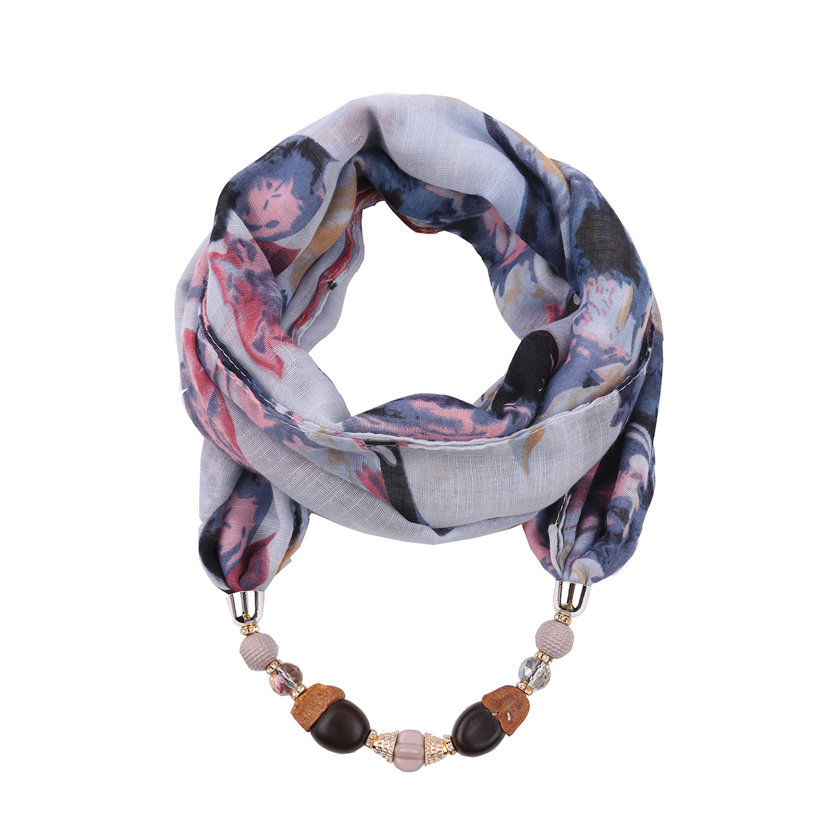 Jewelry scarf women viscose shawls capes ring necklace scarfs accessories wraps head cover stoles fashion