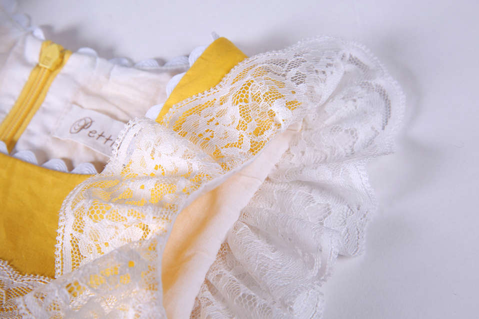ac774f664084 Aliexpress.com : Buy Pettigirl New Girls Easter Dress Summer Yellow Cotton  Kids Dress With Headwear Clothes G DMGD101 B171 from Reliable cotton kids  dress ...