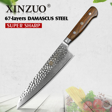XINZUO Newest 67 layers 8″ chef knife Japaness Damascus steel kitchen knife rosewood handle slicing knife cleaver cutlery cutter