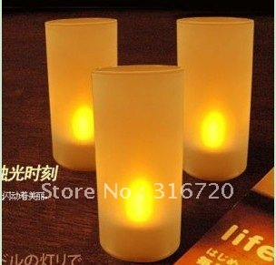 Free Shipping Romantic Single Color Voice-controlled Led Candle  Novelty Led Candle Light Party Decoration Hot Sale!!!!!