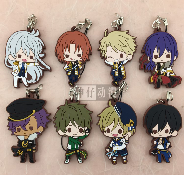 Ensemble Stars Anime Idol High School Game Hidaka Hokuto Hibiki Wataru Bean Eye Ver Japanese Rubber Keychain ensemble stars 2wink cospaly shoes anime boots custom made